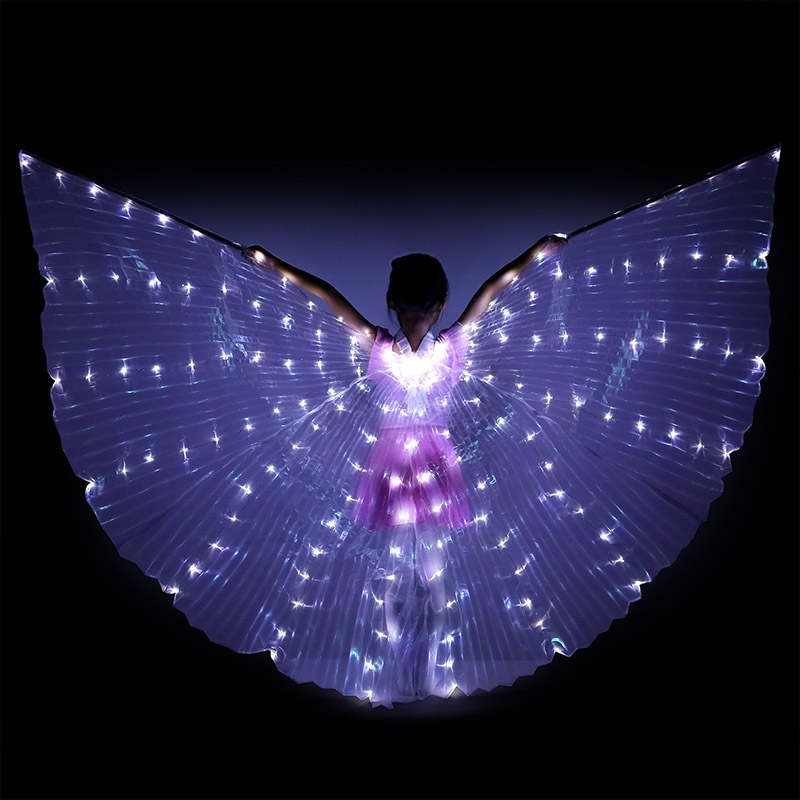 512dc07b4c5 Dance fairy belly dance LED Wings dance skirt Isis dance wings dance ...
